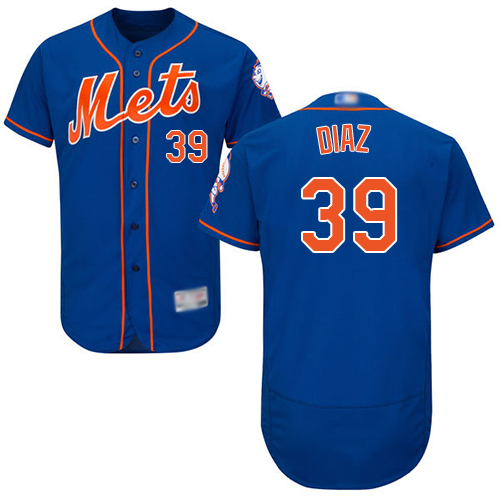 Mets #39 Edwin Diaz Blue Flexbase Authentic Collection Stitched Baseball Jersey