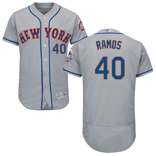 Mets #40 Wilson Ramos Grey Flexbase Authentic Collection Stitched Baseball Jersey