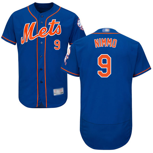 Mets #9 Brandon Nimmo Blue Flexbase Authentic Collection Stitched Baseball Jersey