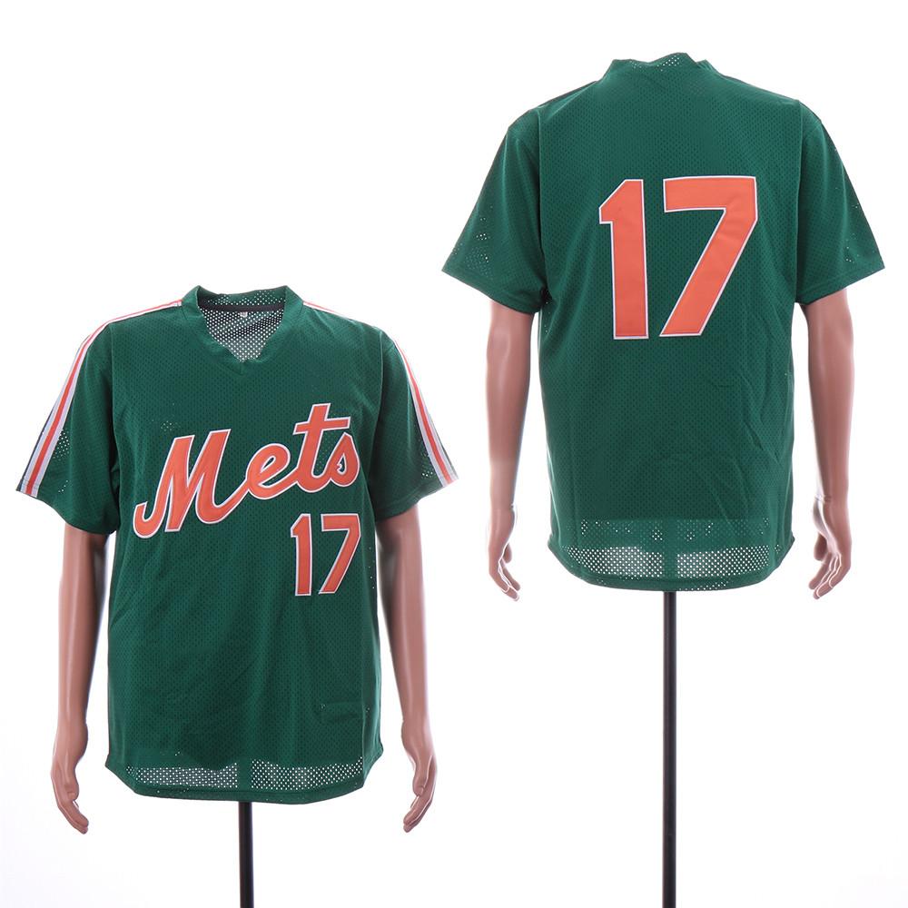 Mets 17 Keith Hernandez Green Mesh Throwback Jersey