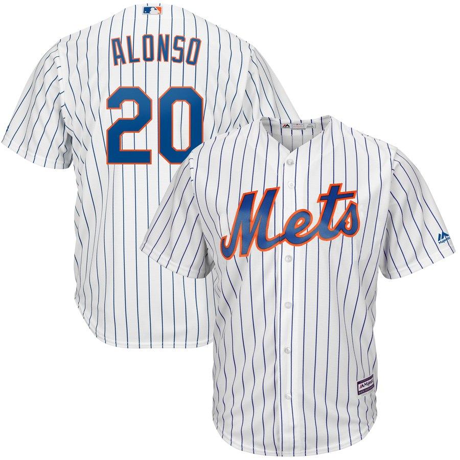 Mets 20 Pete Alonso White Cool Base Jersey