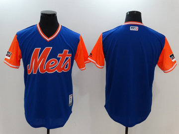 Mets Royal 2018 Players' Weekend Authentic Team Jersey