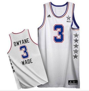 Miami Heat #3 Dwyane Wade White 2015 All Star Stitched NBA Jersey
