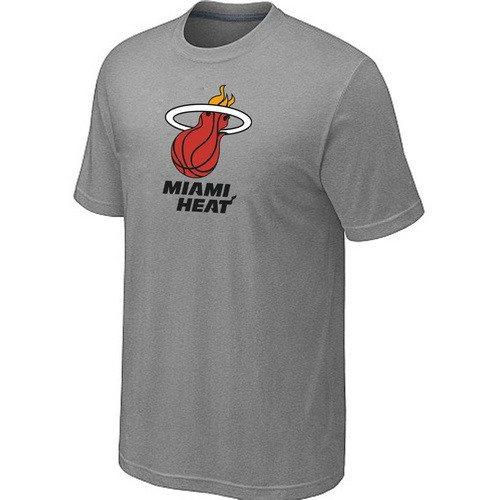 Miami Heat Big & Tall Primary L.gray T-Shirts