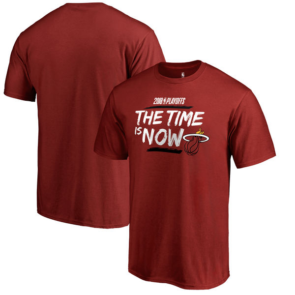 Miami Heat Fanatics Branded 2018 NBA Playoffs Bet Slogan T-Shirt Red
