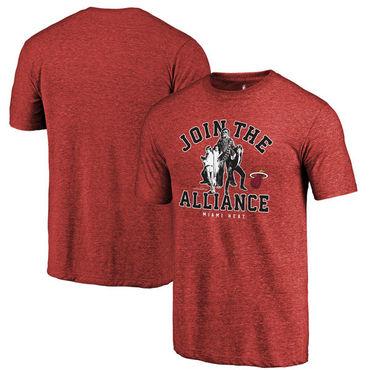 Miami Heat Fanatics Branded Cardinal Star Wars Alliance Tri-Blend T-Shirt