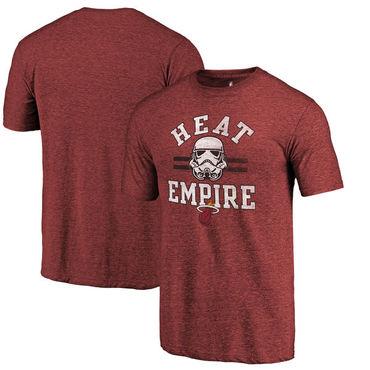 Miami Heat Fanatics Branded Cardinal Star Wars Empire Tri-Blend T-Shirt