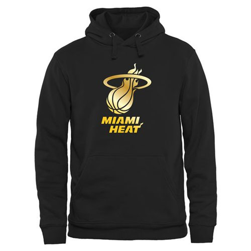 Miami Heat Gold Collection Pullover Hoodie Black