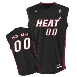 Miami Heat Youth Custom black Jersey