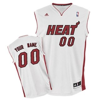 Miami Heat Youth Custom white Jersey
