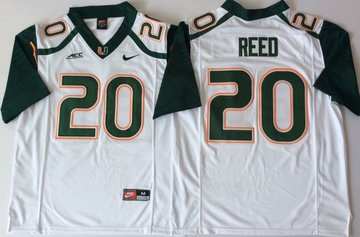 Miami Hurricanes 20 Ed White Green Nike College Football Jersey