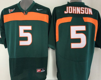 Miami Hurricanes Jersey NCAA jerseys #5 Johnson Black jersey