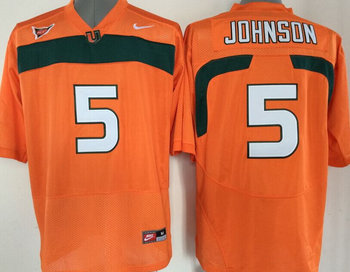 Miami Hurricanes Jersey NCAA jerseys #5 Johnson Orange jersey