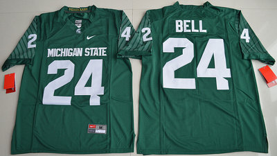 Michigan State Spartans 24 Le'Veon Bell Green College Jersey