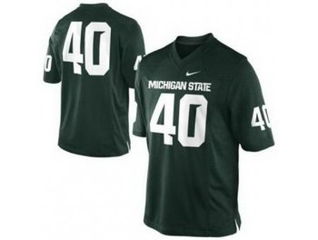 Michigan State Spartans 40 Max Bullough Green College Football NCAA Jerseys