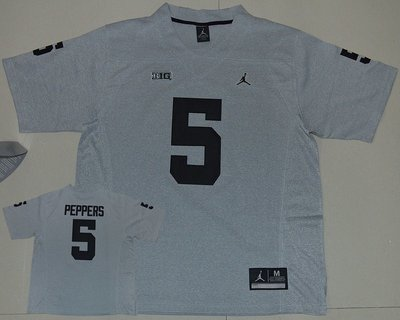Michigan Wolverines 5 Jabrill Peppers Grey College Football Jersey