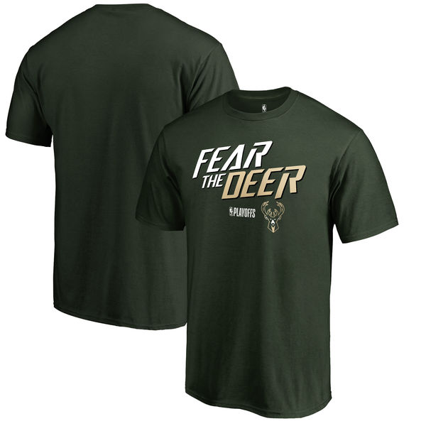Milwaukee Bucks Fanatics Branded 2018 NBA Playoffs Slogan T-Shirt Green