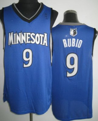 Minnesota Timberwolves 9 Ricky Rubio Blue Revolution 30 NBA Jerseys