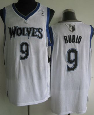 Minnesota Timberwolves 9 Ricky Rubio White Revolution 30 NBA Jerseys