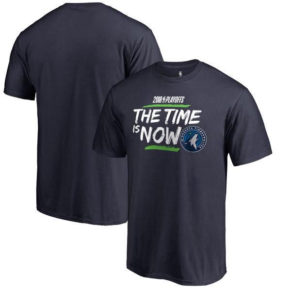 Minnesota Timberwolves Fanatics Branded 2018 NBA Playoffs Bet Slogan T-Shirt Navy