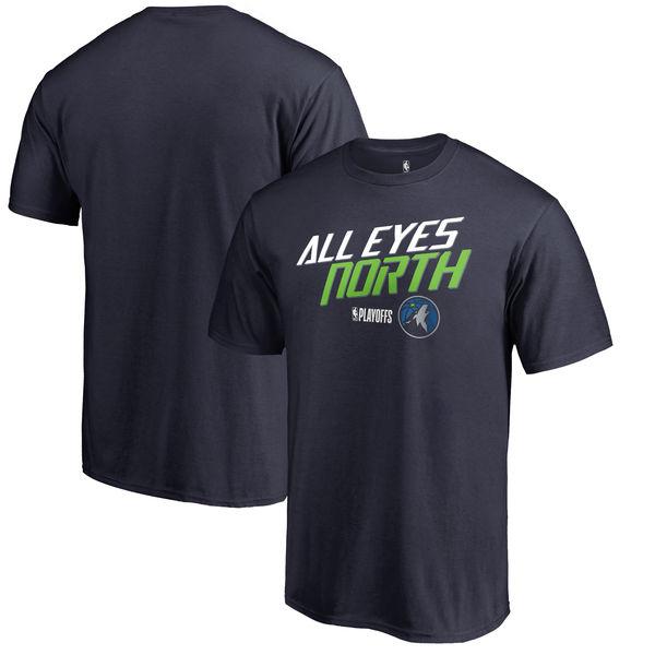 Minnesota Timberwolves Fanatics Branded 2018 NBA Playoffs Slogan T-Shirt Navy