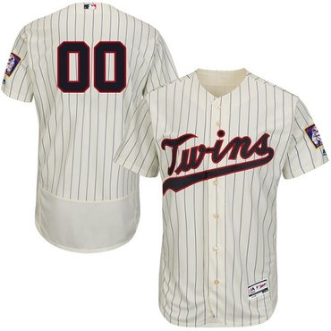 Minnesota Twins Cream Men's Customized Flexbase Jersey