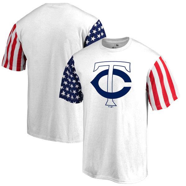 Minnesota Twins Fanatics Branded Stars & Stripes T-Shirt White