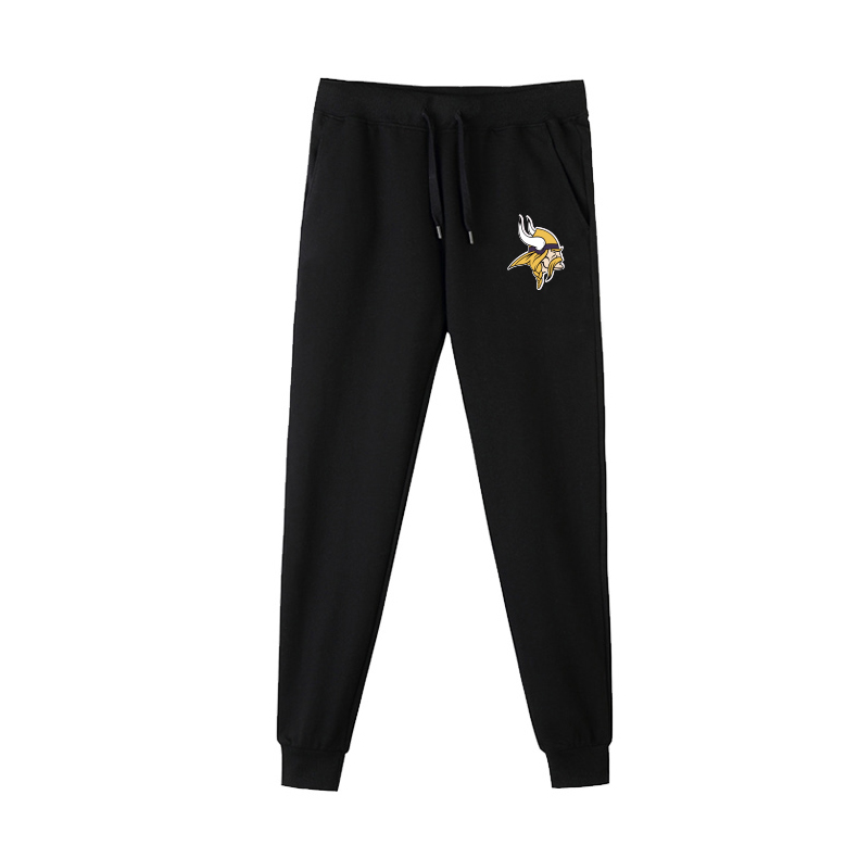 Minnesota Vikings Black Men's Winter Thicken NFL Sports Pant