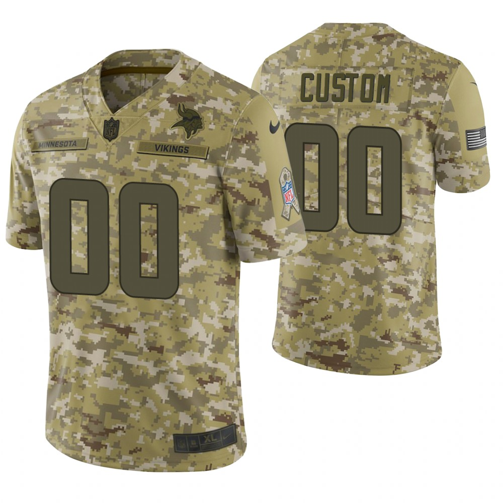 Minnesota Vikings Custom Camo 2018 Salute to Service Limited Jersey