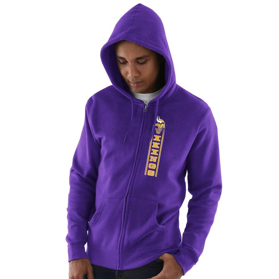 Minnesota Vikings Hook And Ladder Full Zip Hoodie Purple