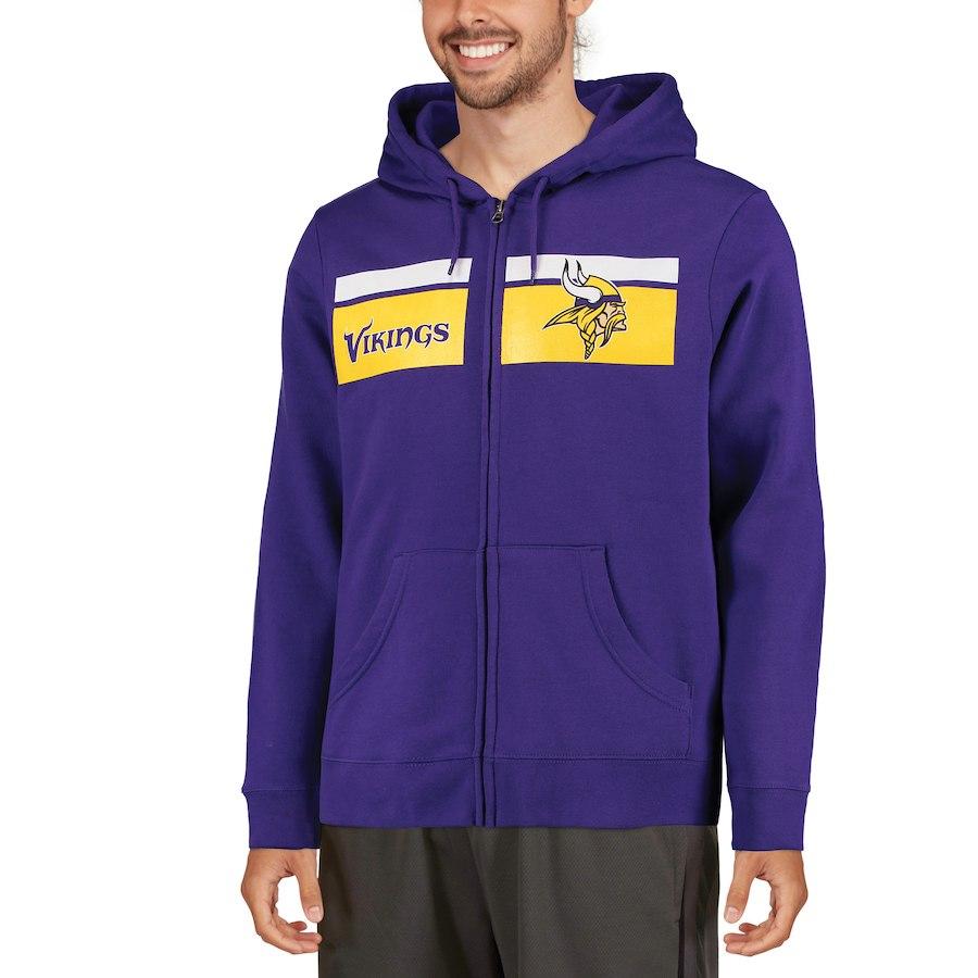 Minnesota Vikings Majestic Touchback Full Zip Hoodie Purple