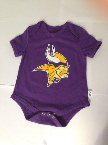 Minnesota Vikings Newborn Tricolor Creeper Set - Purple