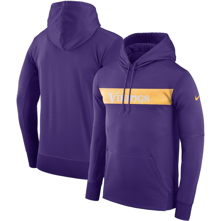 Minnesota Vikings Nike Sideline Team Performance Pullover Hoodie Purple