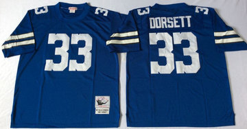 Mitchell&Ness cowboys #33 Tony Dorsett blue Throwback Stitched NFL Jersey