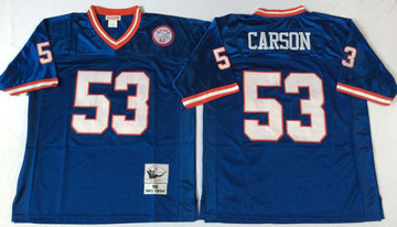 Mitchell&Ness giants #53 harry carson blue Throwback Stitched NFL Jerseys