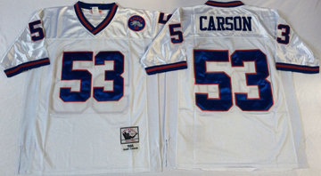 Mitchell&Ness giants #53 harry carson white Throwback Stitched NFL Jerseys