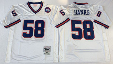 Mitchell&Ness giants #58 BANKS Throwback Stitched NFL Jerseys