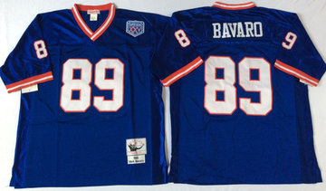 Mitchell&Ness giants #89 Mark Bavaro blue Throwback Stitched NFL Jerseys