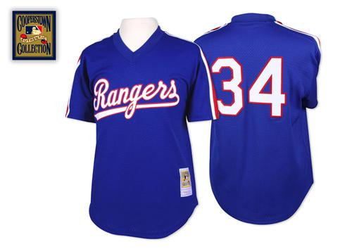Mitchell And Ness 1989 Rangers #34 Nolan Ryan Blue Throwback Stitched MLB Jersey