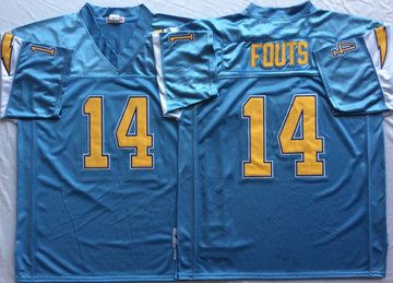 Mitchell And Ness 1994 Chargers #14 Dan Fouts Blue Throwback Stitched NFL Jersey