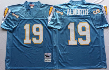 Mitchell And Ness 1994 Chargers #19 Lance Alworth Blue Throwback Stitched NFL Jersey