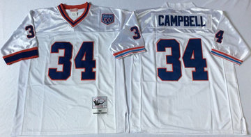 Mitchell And Ness Bills #34 thurman thomas White Throwback Stitched NFL Jersey
