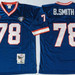 Mitchell And Ness Bills #78 Bruce Smith BLUE Throwback Stitched NFL Jersey