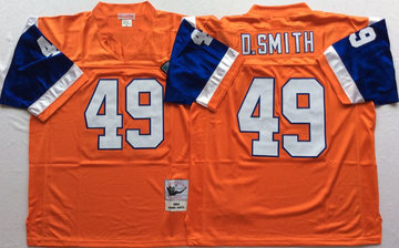 Mitchell And Ness Broncos  ##49 Dennis Smith Throwback Stitched NFL Jersey