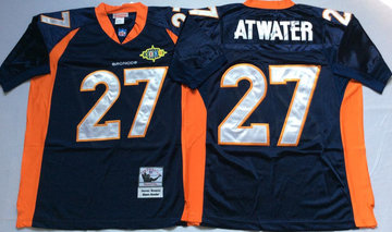 Mitchell And Ness Broncos #27 knowshon moreno blue orange Throwback Stitched NFL Jersey