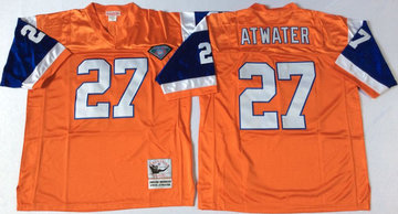 Mitchell And Ness Broncos #27 knowshon moreno orange Throwback Stitched NFL Jersey
