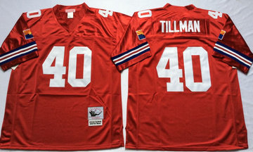 Mitchell And Ness Cardinals #40 Pat Tillman red Throwback Stitched NFL Jersey