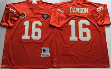 Mitchell And Ness Chiefs #16 len dawson red Throwback Stitched NFL Jersey