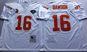 Mitchell And Ness Chiefs #16 len dawson white Throwback Stitched NFL Jersey