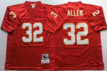 Mitchell And Ness Chiefs #32 marcus allen red Throwback Stitched NFL Jersey